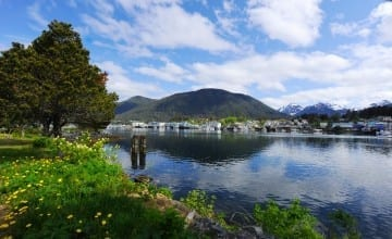 Some cruises to Alaska call on Sitka. The Sitka waterfront. Image by Judith Brown for Sitka.org