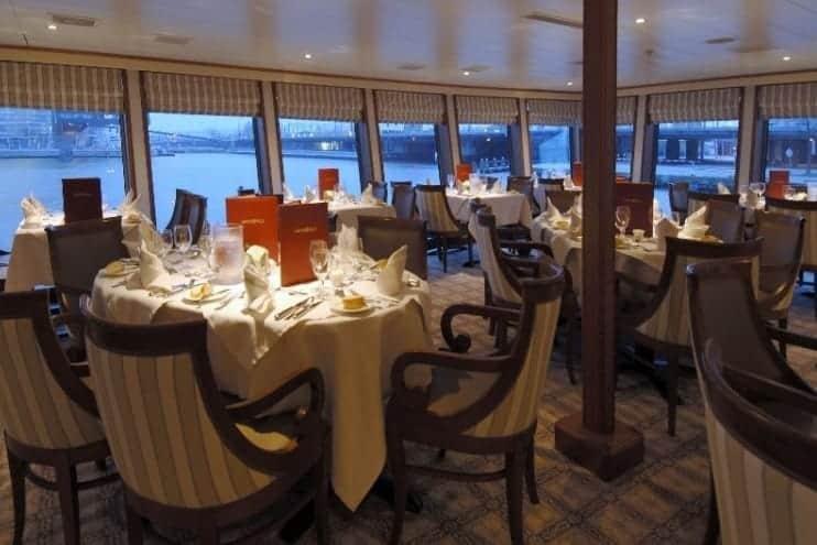Main dining room on Uniworld River Duchess