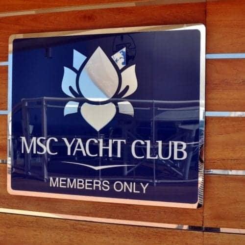 MSC Splendida Yacht Club