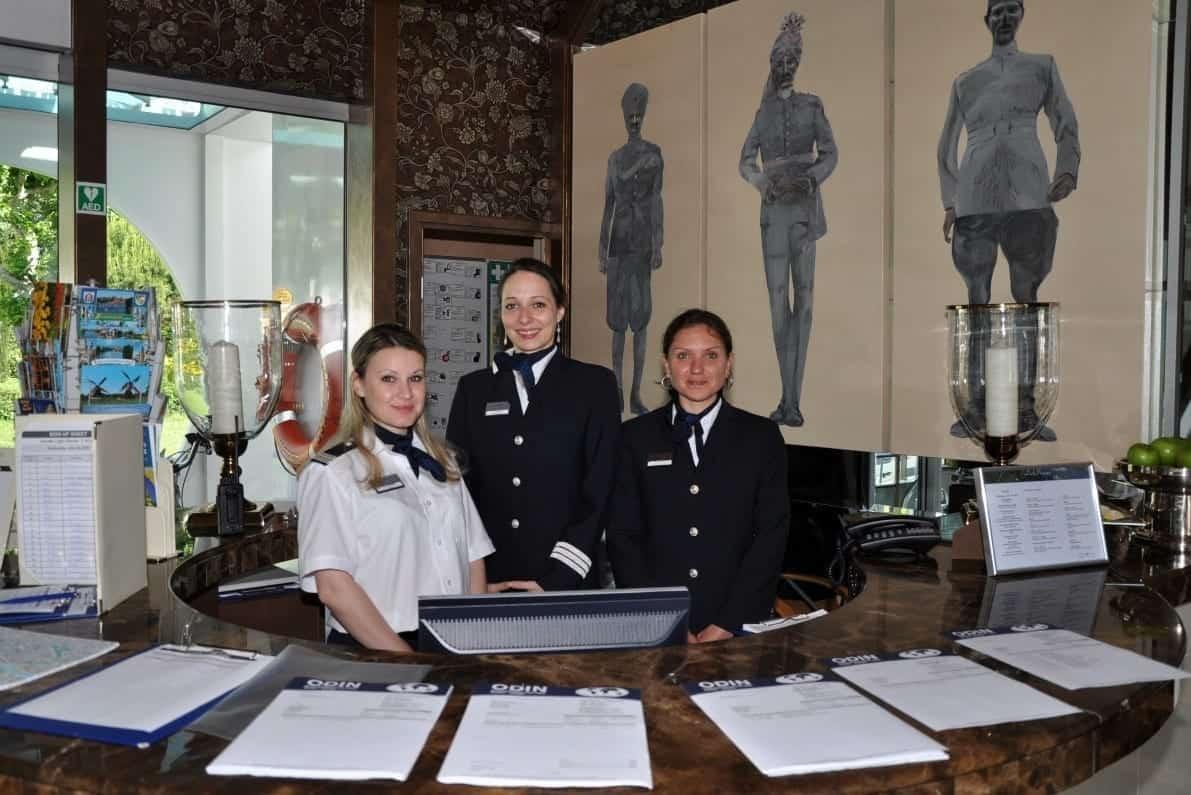 Reception desk on Uniworld River Empress