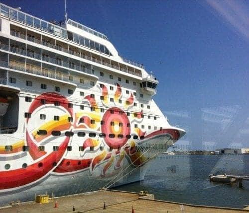 NCL Sun leaving Port Canaveral for transatlantic cruise
