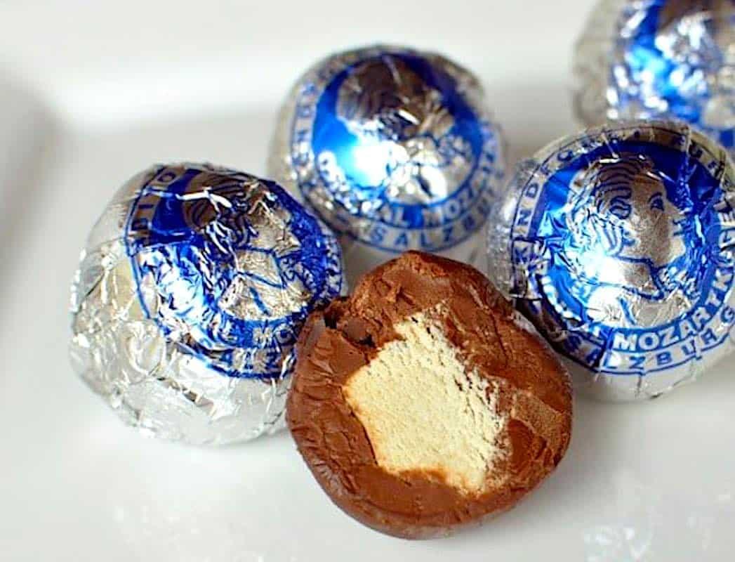 Mozartkugel Chocolate Candy in Salzburg Austria