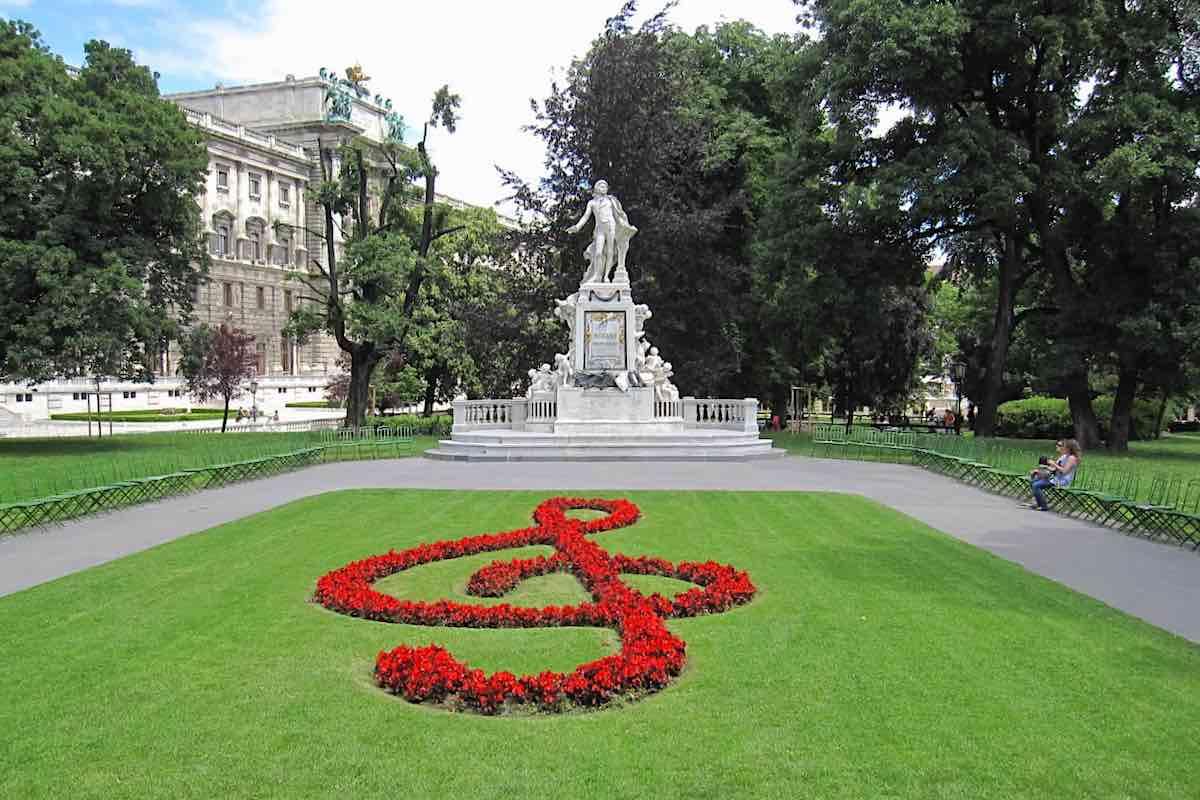Mozart Statue in Salzburg Austria