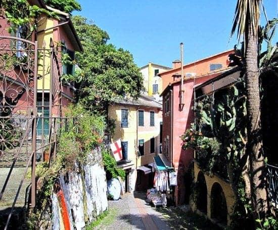 Winding pathway in Portofino