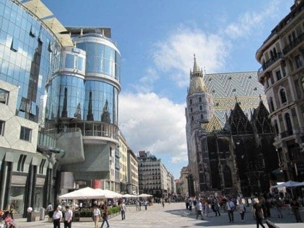 Vienna Austria downtown Graben pedestrian zone