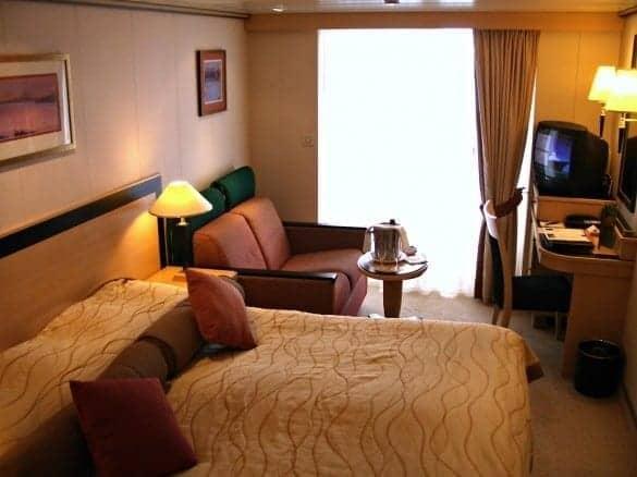 Cunard Queen Mary 2 original balcony stateroom