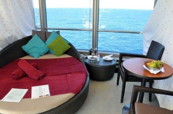 Holland America Eurodam private pool cabanas for rent.
