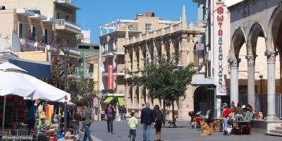 Shopping square in Heraklion