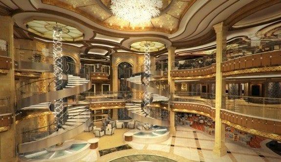 Princess Cruises Royal Princess atrium