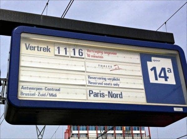 Europe train to Paris Photo Credit: Sherry Laskin