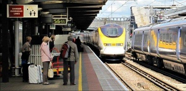 Eurostar rail cruise to London