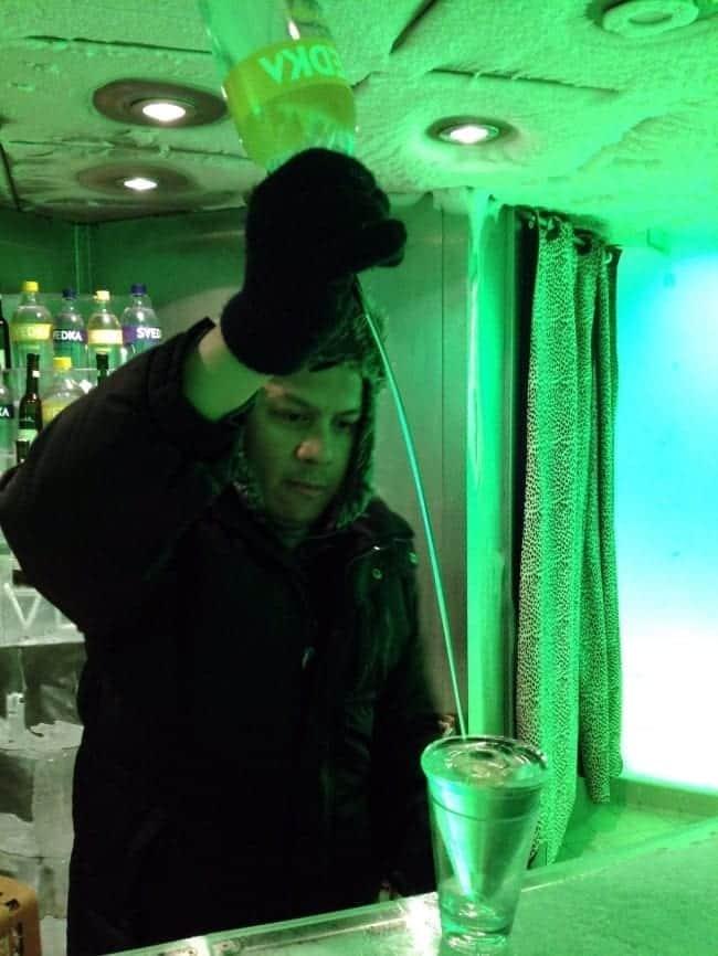 Norwegian Epic Ice Bar bartender