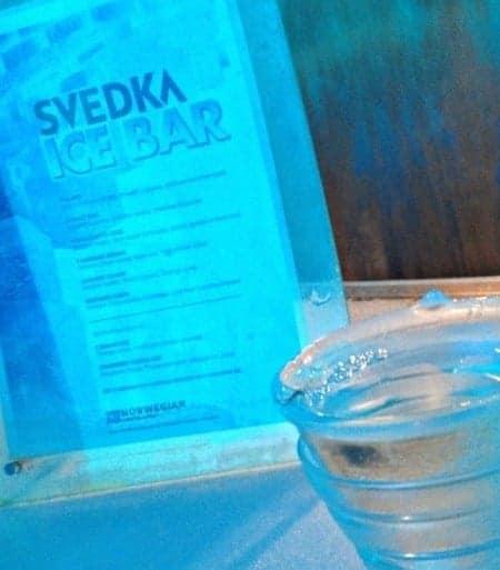 Norwegian Epic Ice Bar drink
