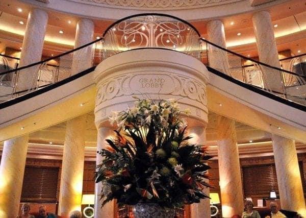 Cunard Line Queen Mary 2 Grand Lobby