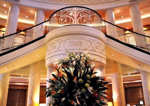 Cunard Queen Mary 2 Grand Lobby