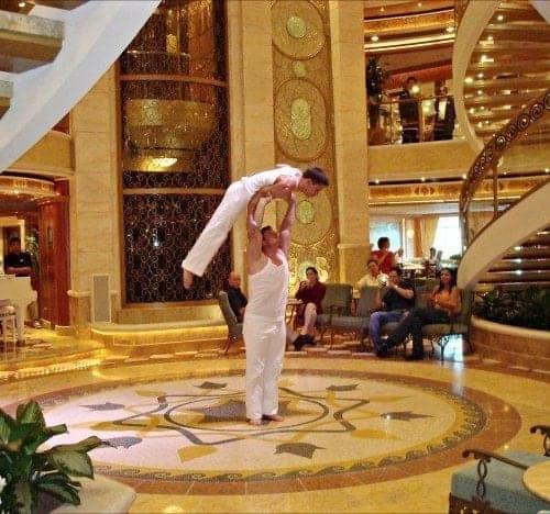 Princess Cruises atrium entertainment
