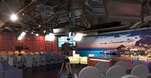 Princess Cruises Royal Princess Television studio