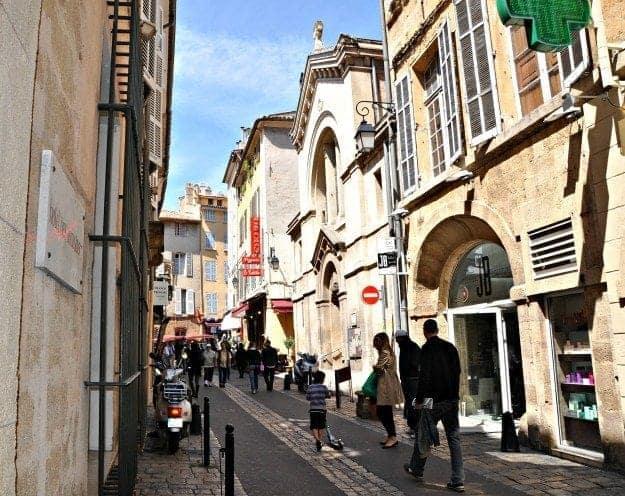 Aix en Provence France in front of Hotel des Augustins