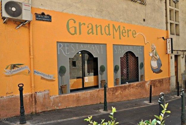 Aix en Provence Chez Grand Mere restaurant