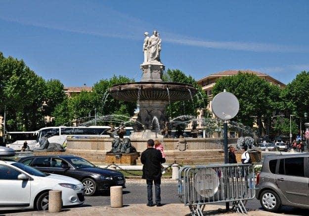 La Rotonde fountain in Aix en Provence