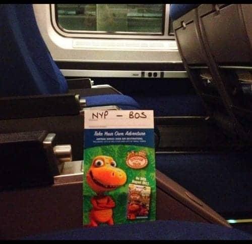 Amtrak train New York City to Boston