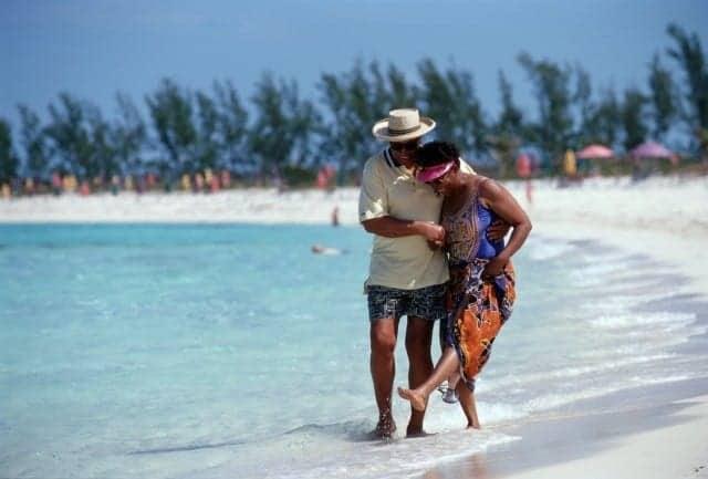 Adults only Serenity Bay beach at Castaway Cay Bahamas