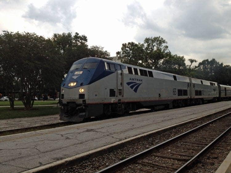 Amtrak Silver Star arriving station