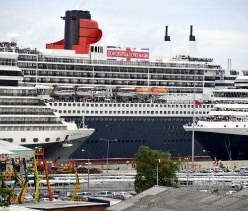 Cunard Line 3 Queens in Southampton