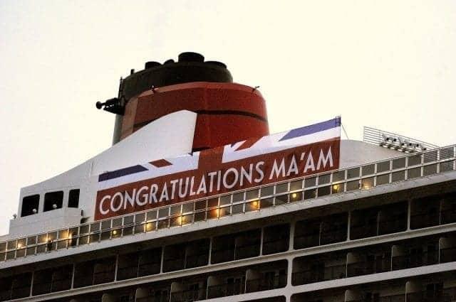 Cunard 3 Queens Queen Mary 2 banner