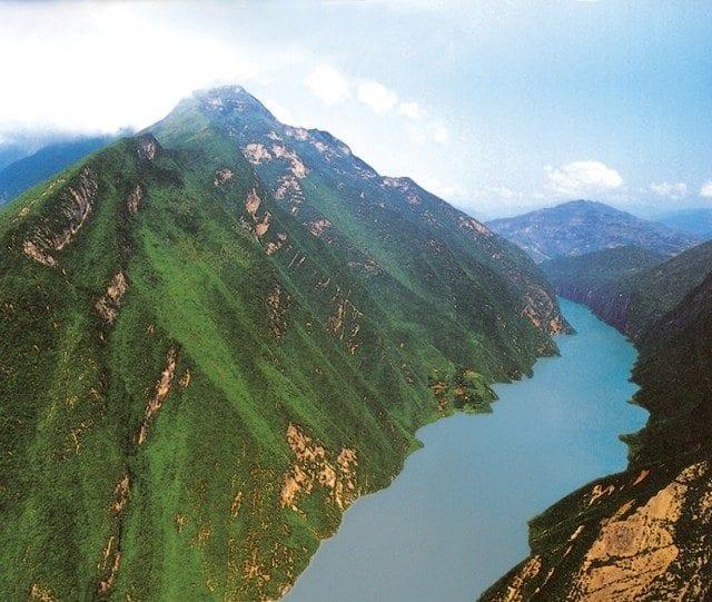 Wu Gorge on the Yangtze River in China