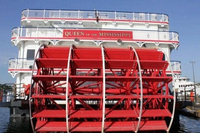 Queen of the Mississippi authentic paddlewheel