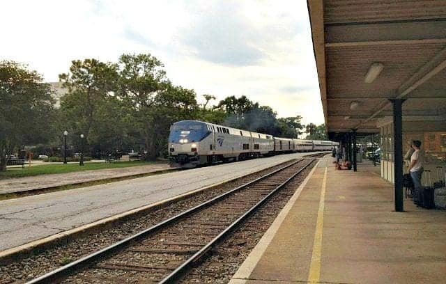 Silver Star arrives at the Winter Park Amtrak Station