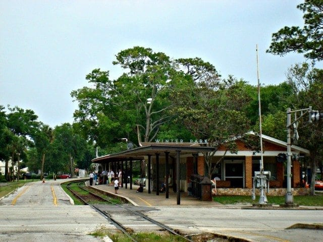 The old Winter Park Florida Amtrak Station