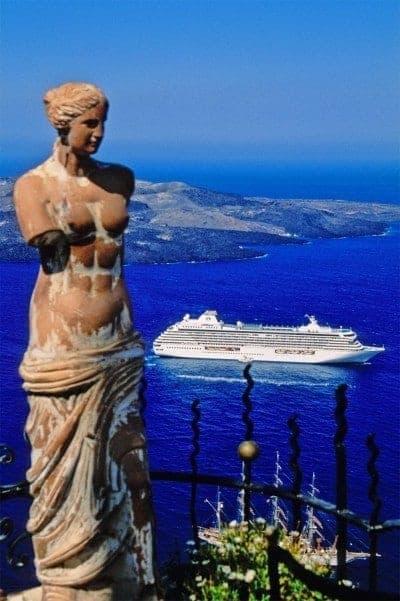 Crystal Serenity in Santorini