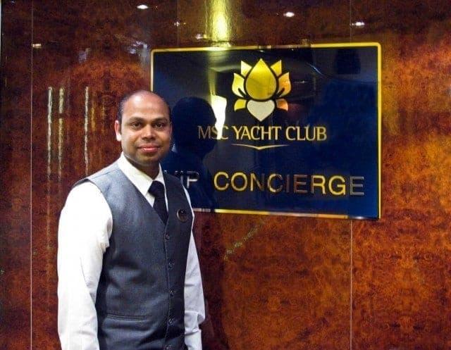 MSC Splendida entrance to the Yacht Club