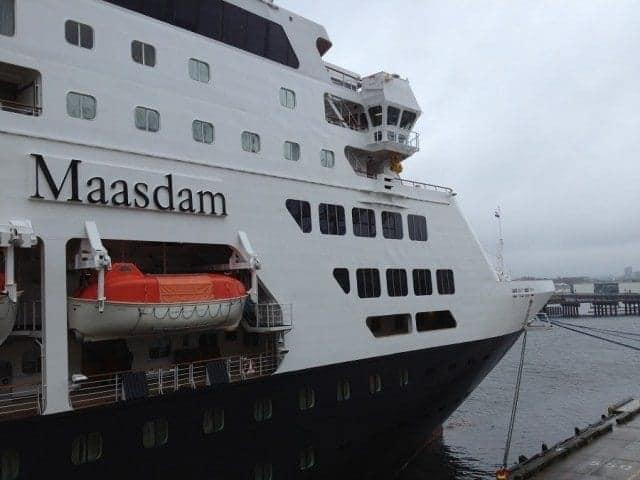 Holland America Line Maasdam bow