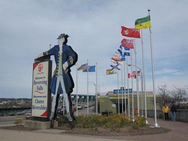 Saint John New Brunswick Reversing Falls and Bay of Fundy