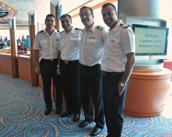 Celebrity Millennium Captain and Senior Officers