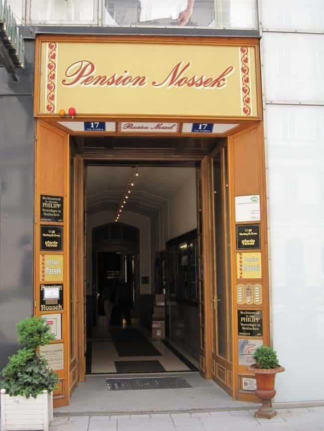 Vienna Austria Pension Nossek