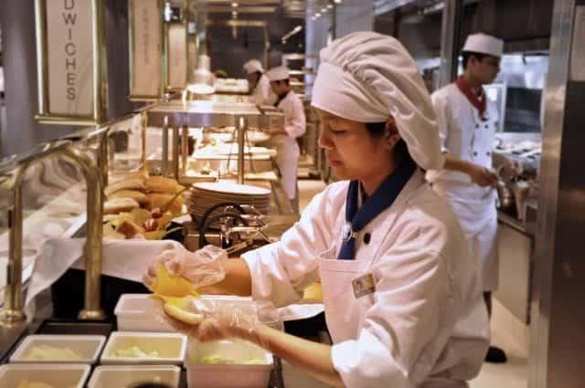 Sandwiches in the Lido Restaurant buffet