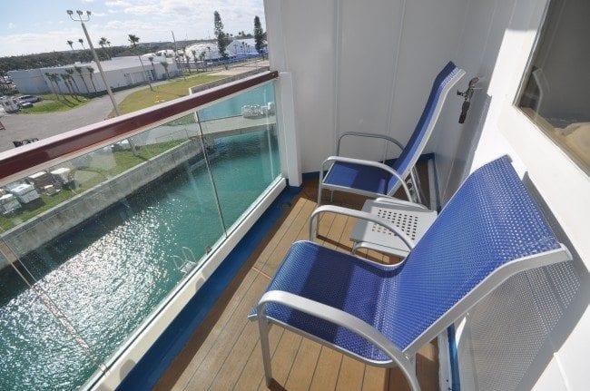 Carnival Ecstasy standard balcony stateroom