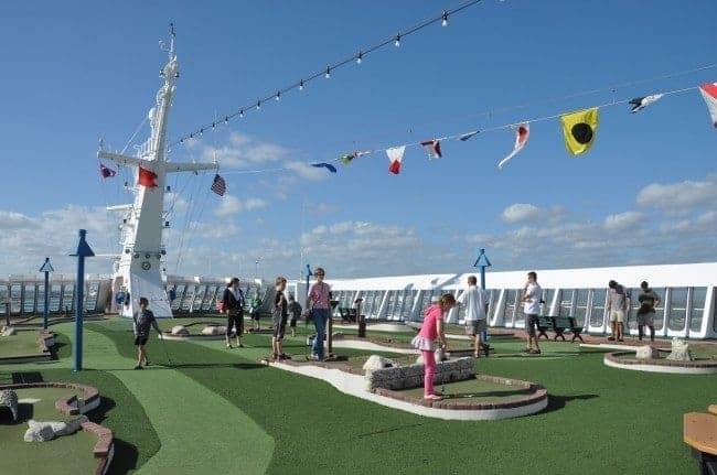 Carnival Ecstasy mini-golf on Sky Deck 14