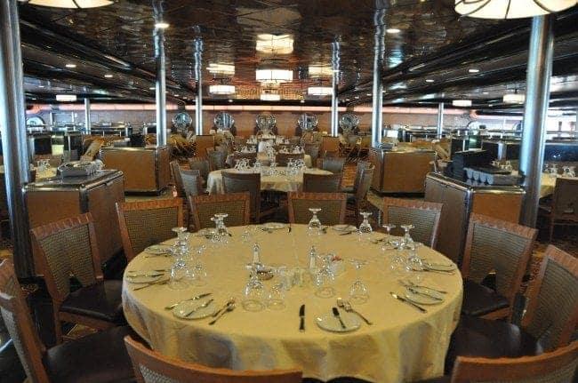 Carnival Ecstasy Windstar dining room