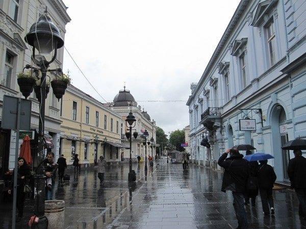 Rainy day in Bratislava