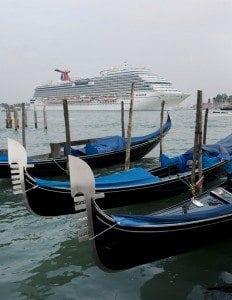 Carnival Breeze arriving into Venice