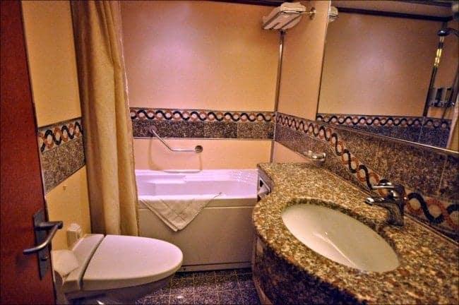 Carnival Ecstasy Suite bathroom