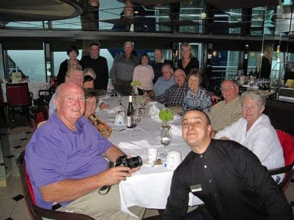 Farewell dinner aboard AmaWaterways AmaLegro with my new friends.