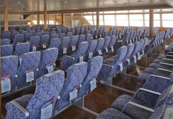 Seating on the Balearia Bahamas Express