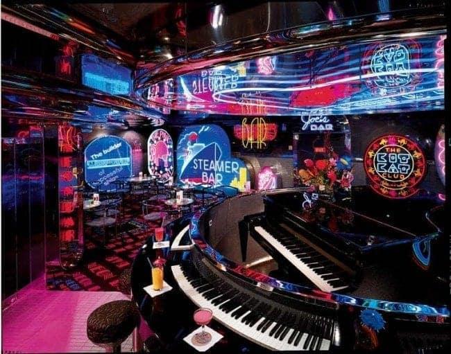 Carnival Ecstasy Neon Piano Bar