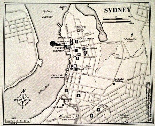 Sydney Nova Scotia harbor map